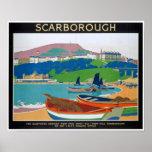 Poster del vintage para Scarborough en Yorshire In