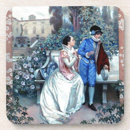 Poster del vintage Romeo y de Juliet Posavasos