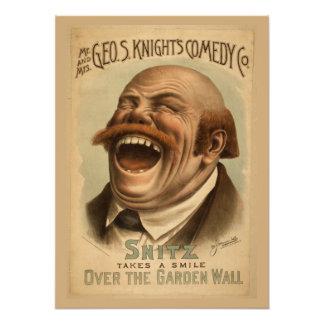 Poster del vintage: Snitz sobre la pared del jardí Fotografías