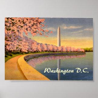 Poster del vintage, Washington DC