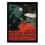 Poster del vintage WWI del servicio aéreo del ejér Postales