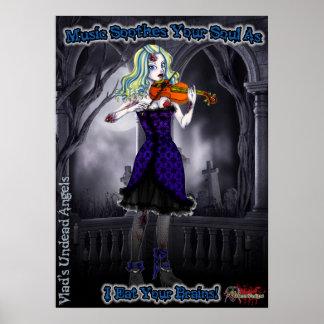 Poster del violinista del zombi de Ariel