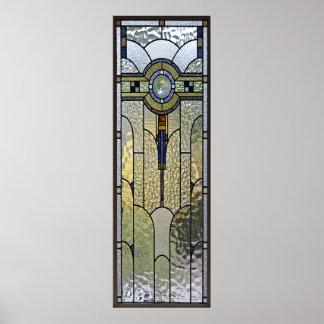poster del vitral del art déco A PARTIR del 8,99