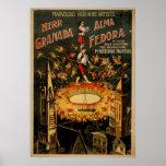Poster del VODEVIL del acto del cable de alta tens