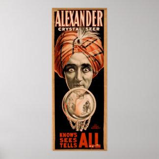 Poster del VODEVIL del ilusionista del mago de ALE