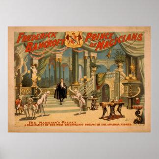 Poster del VODEVIL del ilusionista del mago de BAN