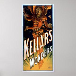 Poster del VODEVIL del ilusionista del mago de KEL