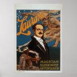 Poster del VODEVIL del ilusionista del mago de Lau