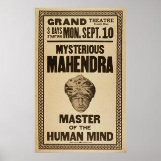 Poster del VODEVIL del ilusionista del mago de MAH