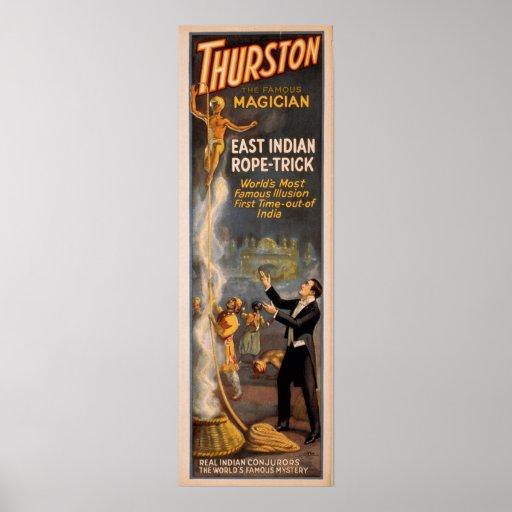 Poster del VODEVIL del ilusionista del mago de THU