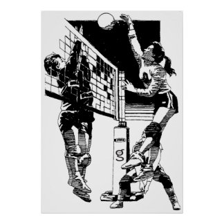 Poster del voleibol