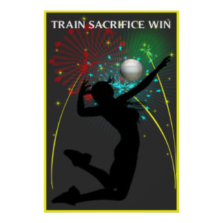 Poster del voleibol del triunfo del sacrificio del