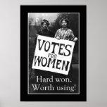 Poster del voto de la vintage mujer