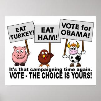 Poster del voto de Obama
