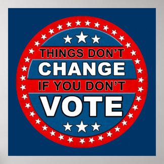 Poster del voto póster