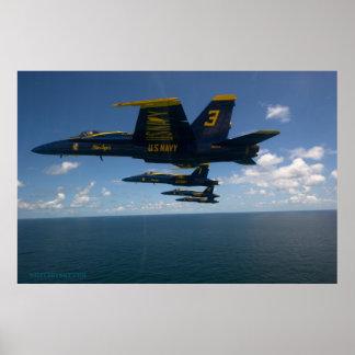 Poster del vuelo de la playa de Pensacola