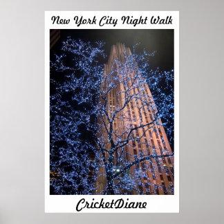 Poster del WalkAbout de NYC Nightwalk CricketDiane