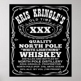 Poster del whisky del navidad de la destilería de
