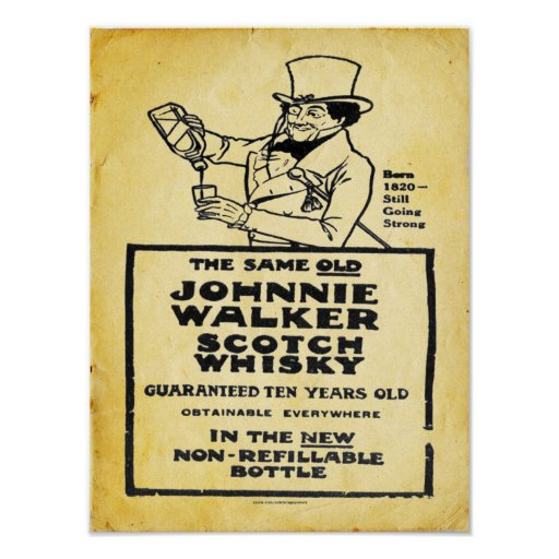 Poster del whisky escocés del vintage