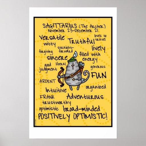 poster del wordcloud del sagitario