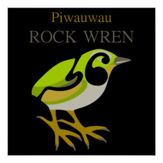 POSTER del Wren de roca de Aotearoa Nueva Zelanda Perfect Poster