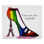 Poster del zapato de la torre Eiffel