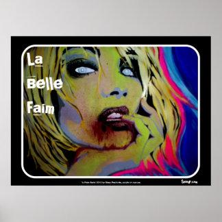 """""""Poster del zombi de Faim de la belleza del La"""""""