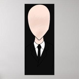 Poster delgado del hombre