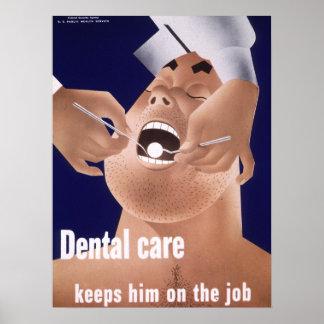 Poster dental 1942 de la salud de la marina de gue