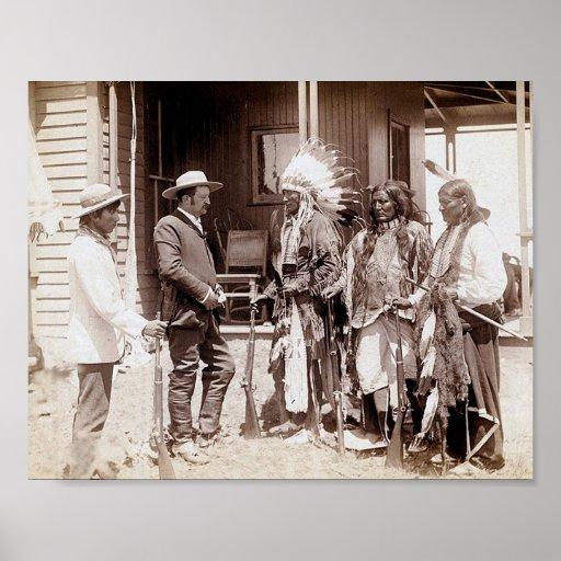 Poster derecho de los alces del nativo americano d