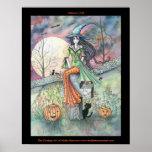 Poster desapasible del gato de la bruja de octubre