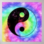 Poster descolorado de Yin Yang del arco iris
