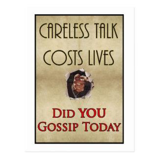 Poster descuidado de la propaganda de la charla postal