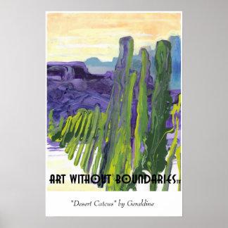 "Poster: ""Desert Cactus"" by Geraldine"
