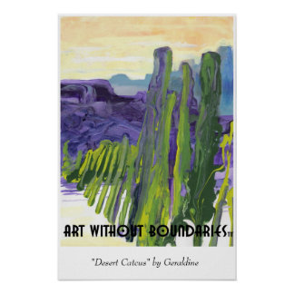 "Poster: ""Desert Cactus"" by Geraldine Poster"