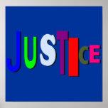 Poster desigual de la justicia