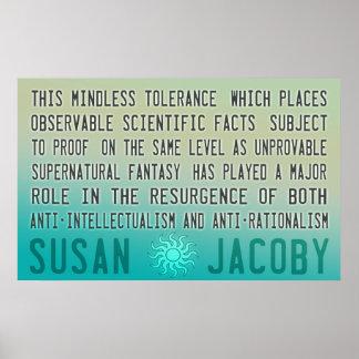 Poster despreocupado de la tolerancia de Susan Jac