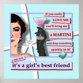 Poster - diamantes y martinis, el mejor amigo de u