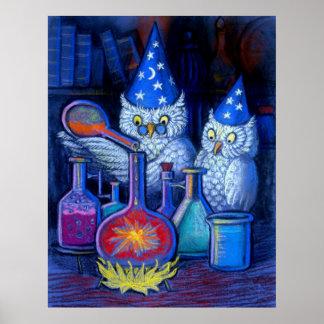 Poster divertido caprichoso de la alquimia mágica