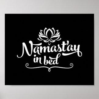 Poster divertido de la cita de Namaste Póster