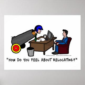 Poster divertido de la entrevista de trabajo