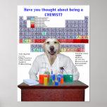 Poster divertido de la química del laboratorio