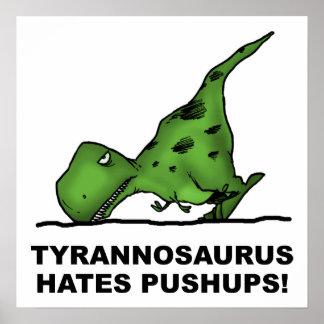 Poster divertido de los pectorales de T-Rex