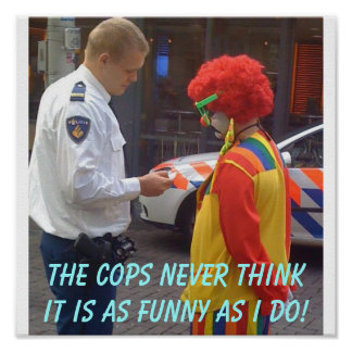 Poster divertido de los polis