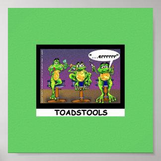 Poster divertido de los Toadstools perezosos de la