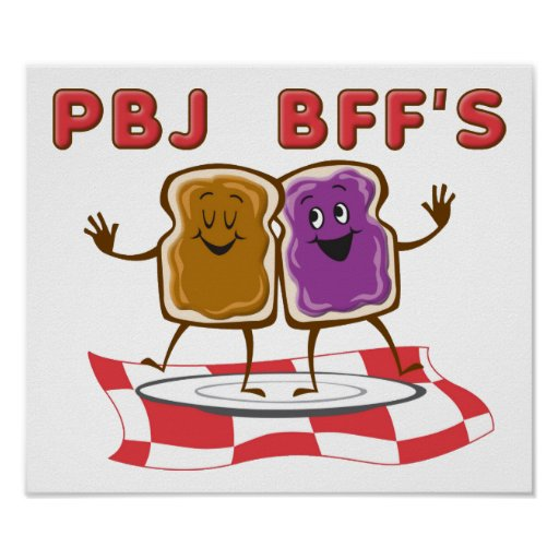 Poster divertido de PBJ BFF