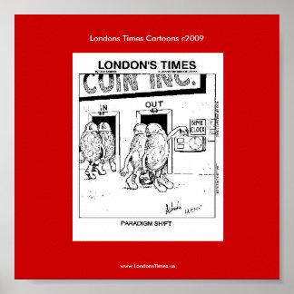 Poster divertido de Rick Londres del dibujo animad
