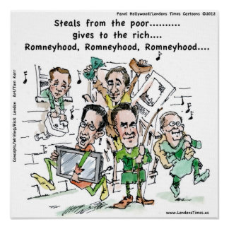 Poster divertido de RomneyHood de Rick Londres