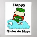 Poster divertido de Sinko de Mayo Cinco de Mayo
