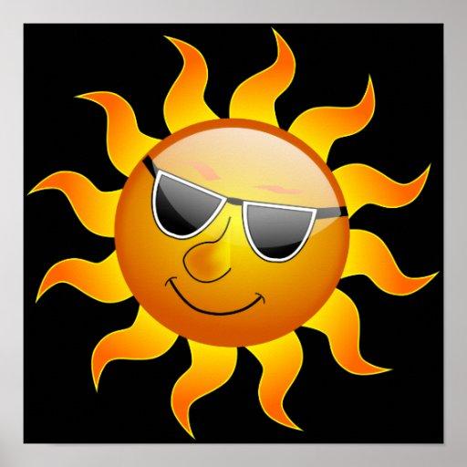 Poster divertido de Sun del verano